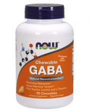 NOW GABA Chewable Natural Orange Flavor 90 таб