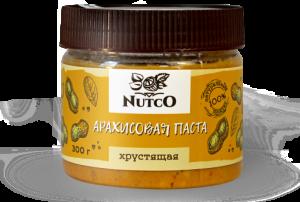 NUTCO Хрустящая арахисовая паста 300 гр