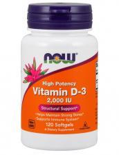 NOW Vitamin D-3 2000 IU 120 кап