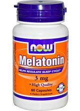 NOW Melatonin 3 mg 60 кап