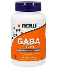 NOW GABA 750 мг 100 кап