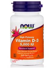 NOW Vitamin D-3 5000 IU 240 кап