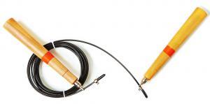 Скоростная скакалка деревянные ручки